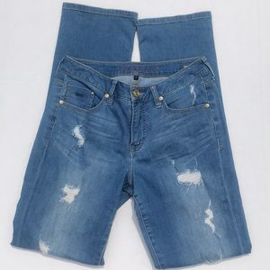 Jag Jeans Distressed Western Glove Works Jeans